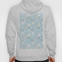 From Mice Bears Deers And Christmas - Cute teal X-Mas Pattern Hoody