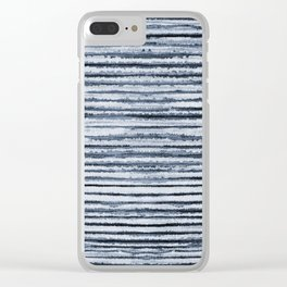 Watercolor Shibori Zebra Stripes Clear iPhone Case