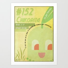 Chikorita Art Print