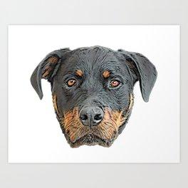 Rottweiler breed domestic dog Metzgerhund livestock butchered droving Art Print