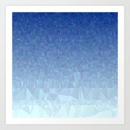 Blue Ombre - Flipped Art Print