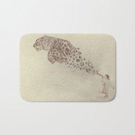 Bubbles the Snow Leopard Bath Mat