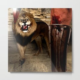 For The Glory of Blood Metal Print