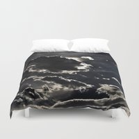 inception Duvet Covers featuring INTO THE SKY by Inception of The Matrix