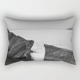 Serenity Sea. BW square. At Sunrise Morning Rectangular Pillow