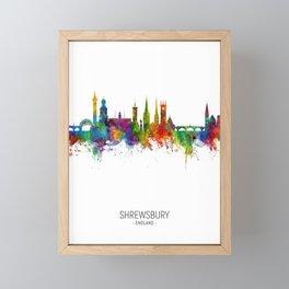 Shrewsbury England Skyline Framed Mini Art Print