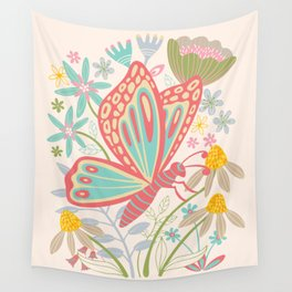 BUTTERFLY LANDING Wall Tapestry