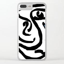"""Tear Boy"" Clear iPhone Case"