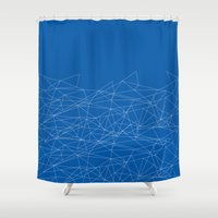 the wire Shower Curtains featuring WIRE 02 by Francescerous