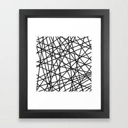 Lazer Dance Black on White Framed Art Print