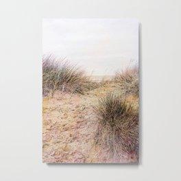 Footprints in the Sand. Metal Print