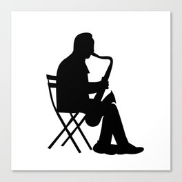 Saxaphone Silhouette Canvas Print