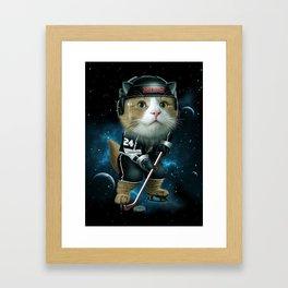 TEAM MEOW HOCKEY Framed Art Print