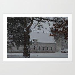 Zimmerman White Barn II Art Print