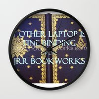 laptop Wall Clocks featuring Laptop by Jrr Bookworks