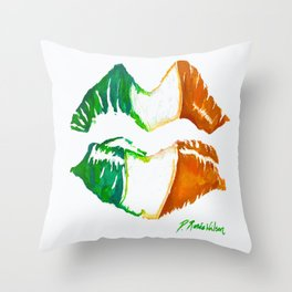 Kiss Me, I'm Irish Throw Pillow