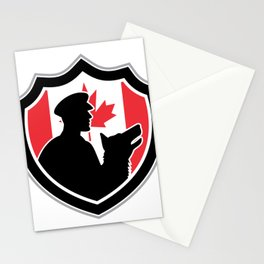 Canadian Police Canine Team Crest Stationery Cards