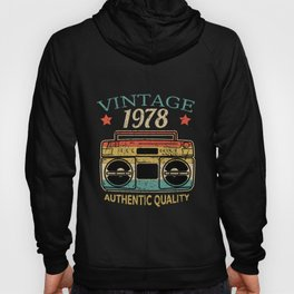 Vintage 1978 Radio Authentic Quality B-Day Gift Hoody