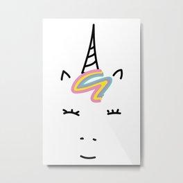 my Kid's Unicorn Metal Print