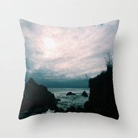 big sur Throw Pillows featuring Big Sur by GBret