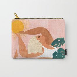 Tropical Yoga #illustration #tropical Carry-All Pouch