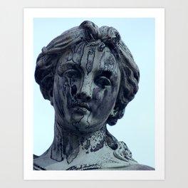 Weeping Angel Statue Art Print