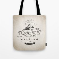mountains Tote Bags featuring Mountains by Seaside Spirit
