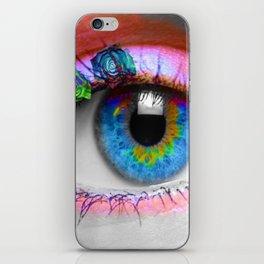 ojo rosado iPhone Skin