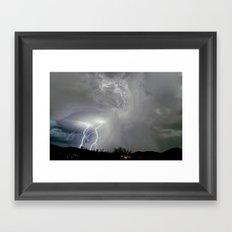 When Monsoon Sparks Fly Framed Art Print