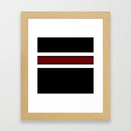 Team Colors 2...Maroon/white Framed Art Print