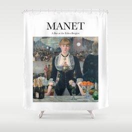 Manet - A Bar at the Folies-Bergère Shower Curtain