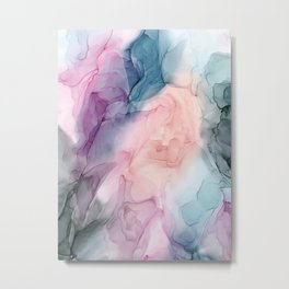 Dark and Pastel Ethereal- Original Fluid Art Painting Metal Print