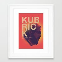 kubrick Framed Art Prints featuring Stanley Kubrick by Howling Youth