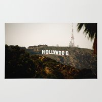 hollywood Area & Throw Rugs featuring Hollywood by Claire Jantzen