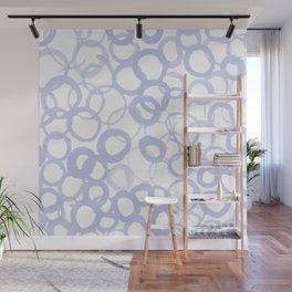 Watercolor Circle Pale Blue Wall Mural