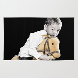 The Golden Horse and The Scary Kid Rug