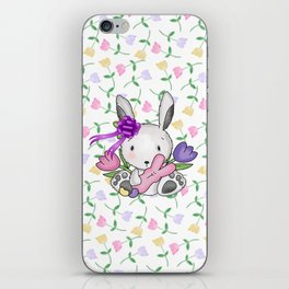 Easter Bunny And Tulips iPhone Skin