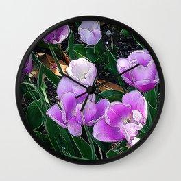 JC FloralArt 05 Wall Clock