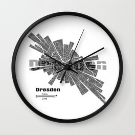 Dresden Map Wall Clock