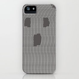 Ghost Typography iPhone Case