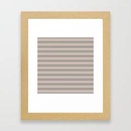 Grey Stripes Framed Art Print
