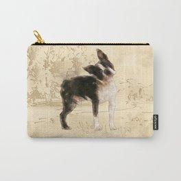 Boston Terrier Watercolor Digital Art Carry-All Pouch