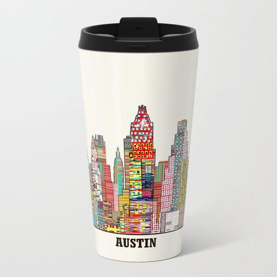 Austin texas Metal Travel Mug