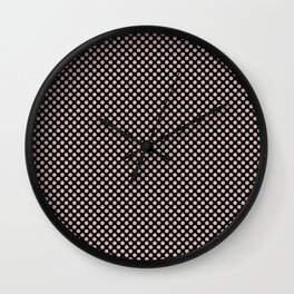 Black and Rose Smoke Polka Dots Wall Clock