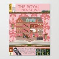 royal tenenbaums Canvas Prints featuring The Royal Tenenbaums by Alan Segama