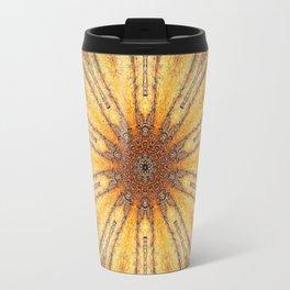 Bright Antique Gold Mandala Travel Mug