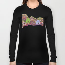 Line Faces Two Long Sleeve T-shirt