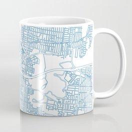 Street MAP Melbourne // Blue Coffee Mug