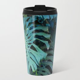 Monstera Print, Tropical Green Beauty Travel Mug