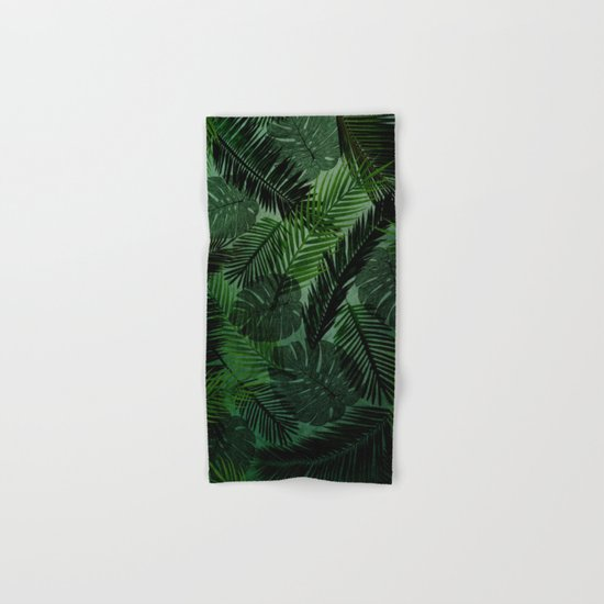 Green Foliage Hand & Bath Towel